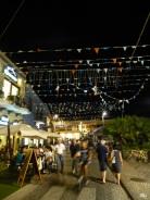 Les rues de Pula le soir