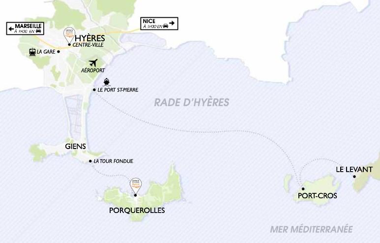 Carte des îles