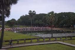 La foule à 6h30 du matin...